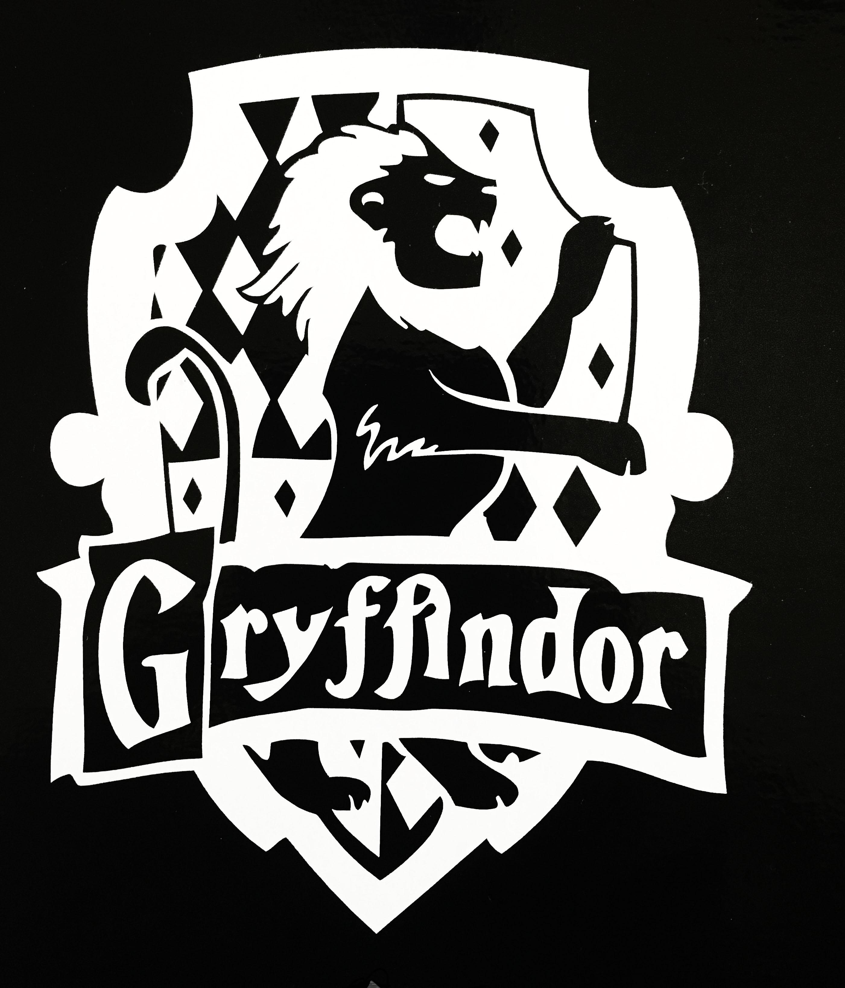 Harry Potter Gryffindor House Sigil Bitchen Stickerz