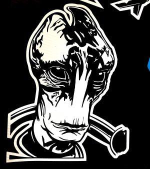 Mass Effect Turian Crossbones Bitchen Stickerz