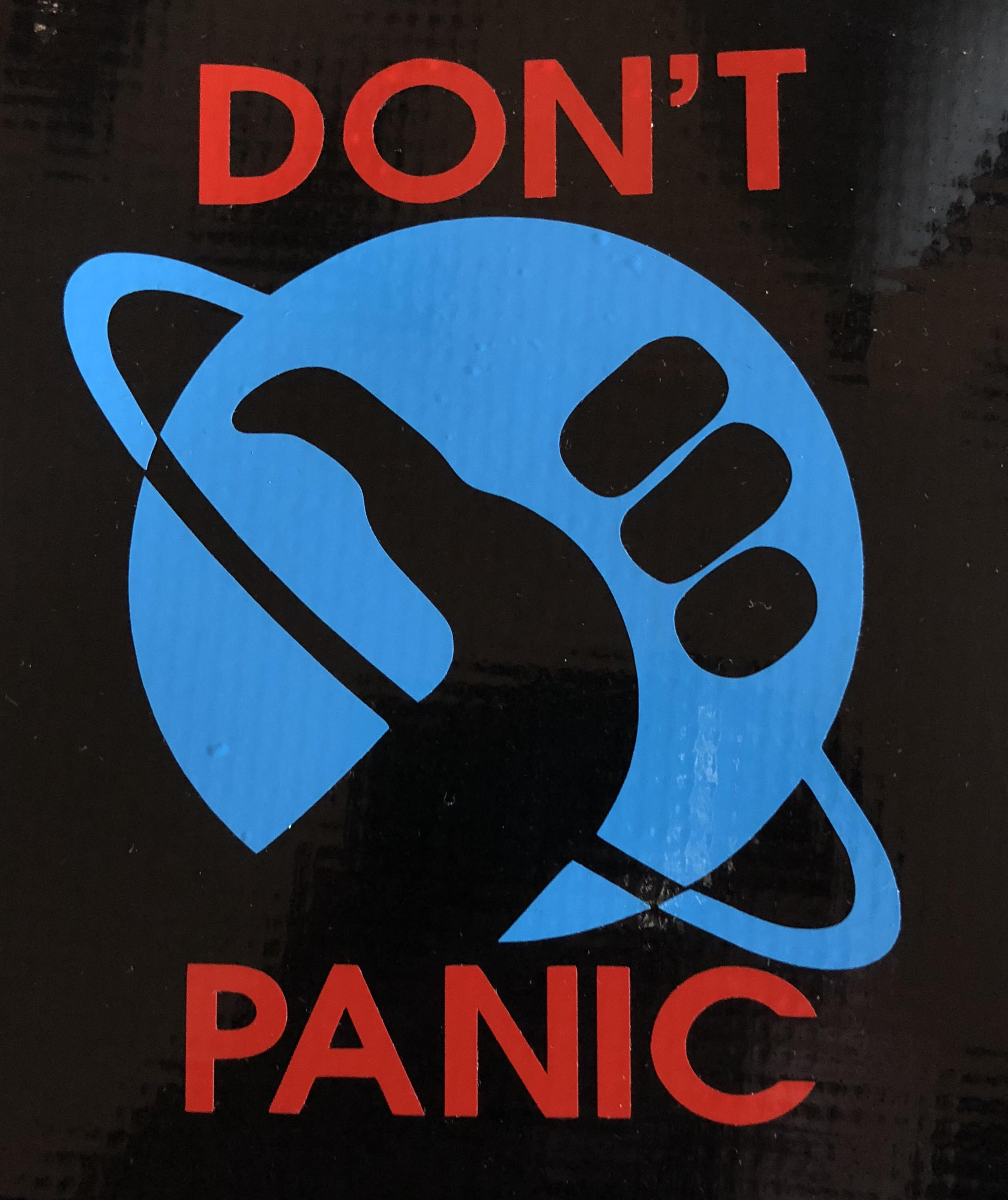 Hitchhiker's Guide to the Galaxy - Don't Panic - Bitchen Stickerz
