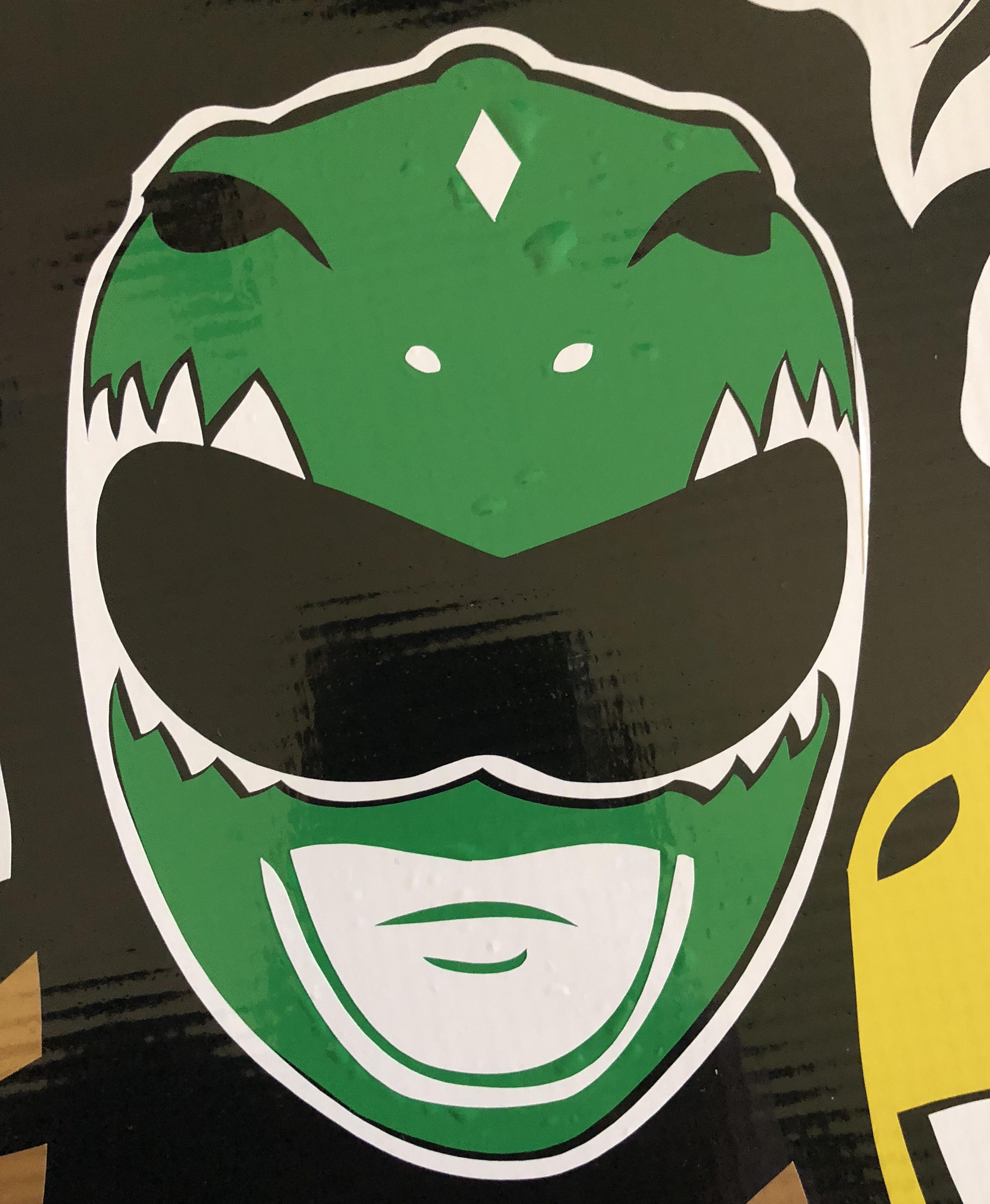Power Rangers Green Power Ranger Helmet Vinyl Decal Bitchen Stickerz